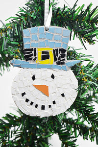 Snowman ornament with blue hat (11AR319)