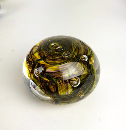 Yellow and Black Paperweight (11GR1819)