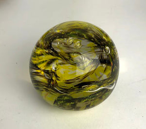 Black and Lime Paperweight (11GR1919)
