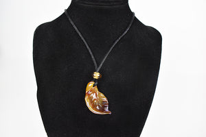 Glass leaf necklace (11LT919)