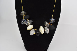 GlassRoots signature necklace black grey and white