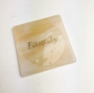 "Sandblasted ""Family""Coaster (12AR219)"