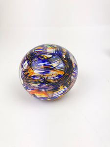Blue and Orange Paperweight (1GR1120)