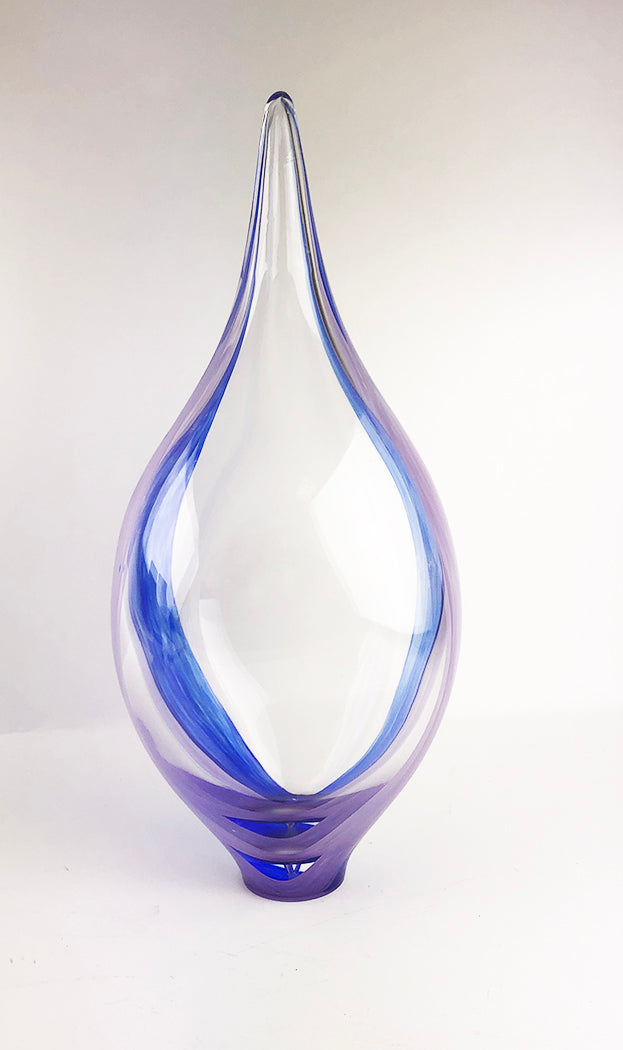 Clear Purple and Blue Vessel (1GR2220)