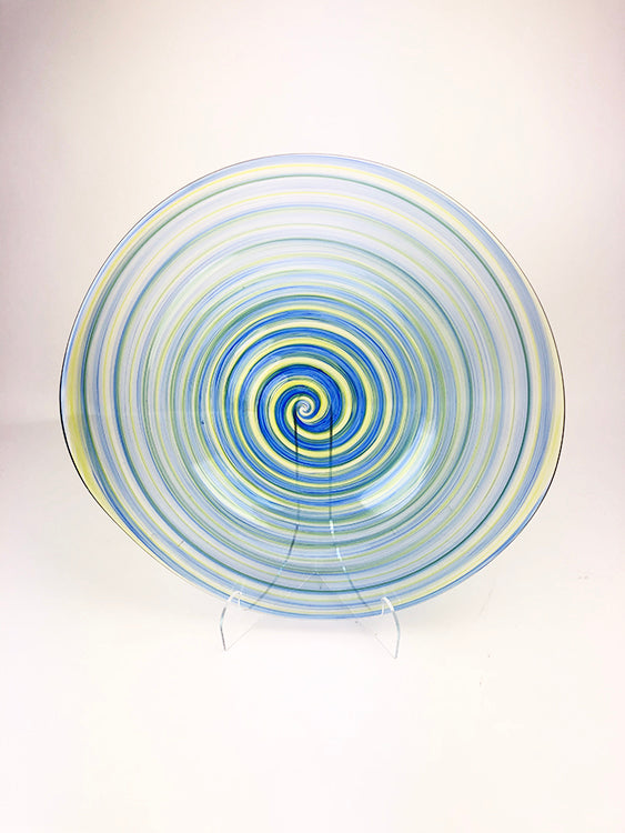 Blue Blown Glass Plate (1GR720)