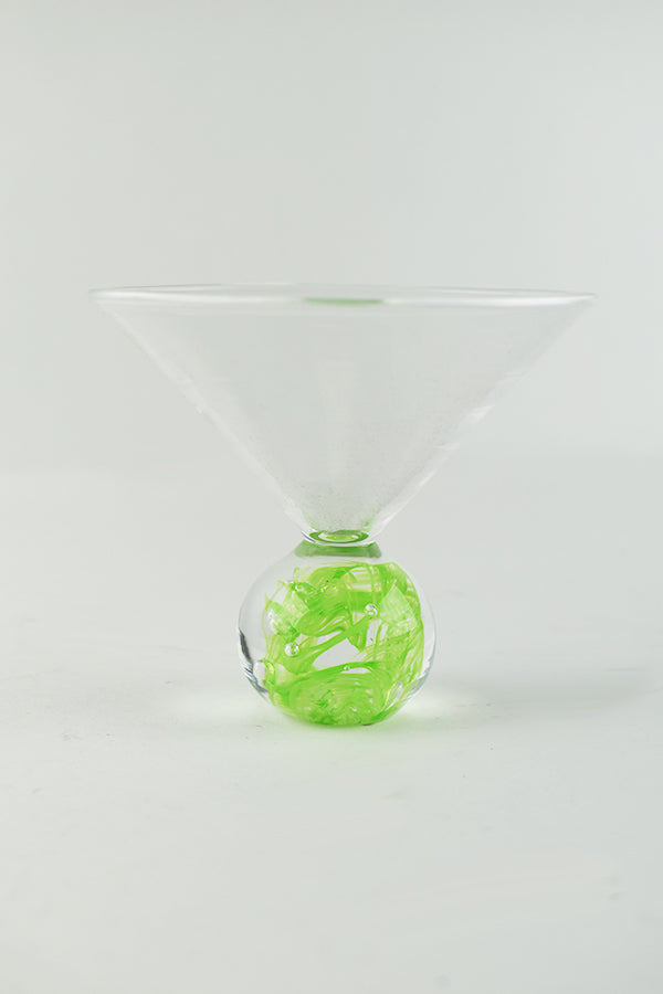 Martini Glass with Green Base (1JM617)
