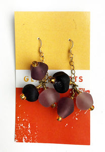 Dusty Rose Cluster Earrings
