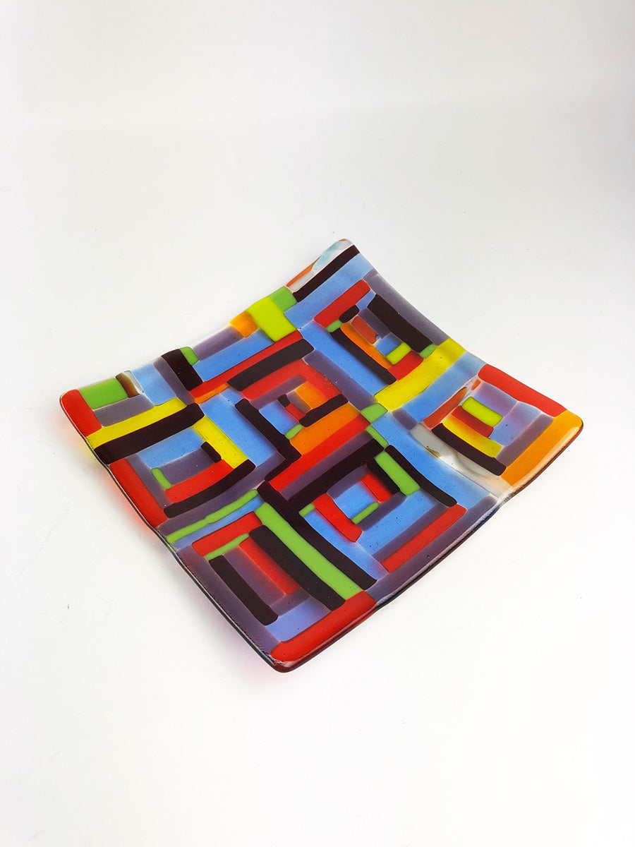 Colorful Geometric Slumped Plate (2GR120)