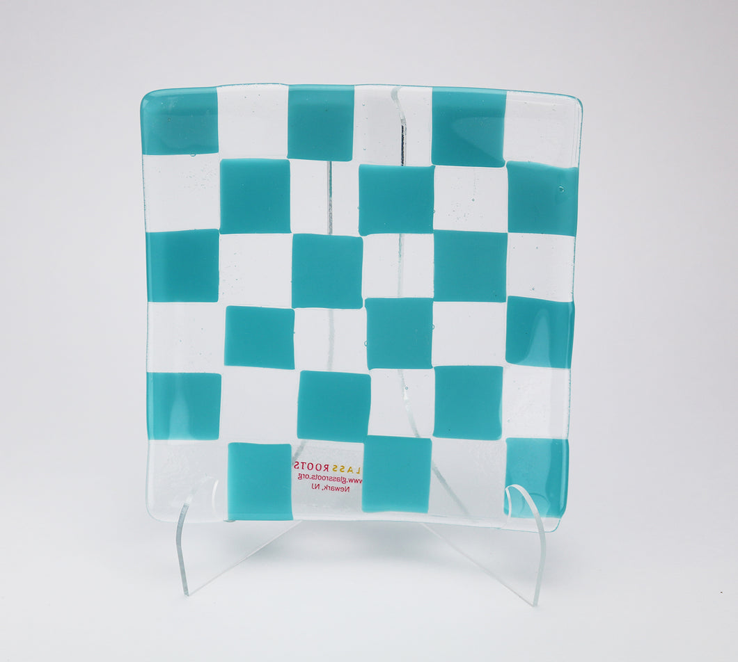 Turquoise Checkered Plate