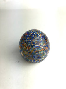 Blue and Red Speckled Paperweight (3GR920)