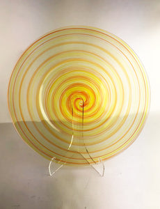 Yellow and Cherry Plate (3JM320)