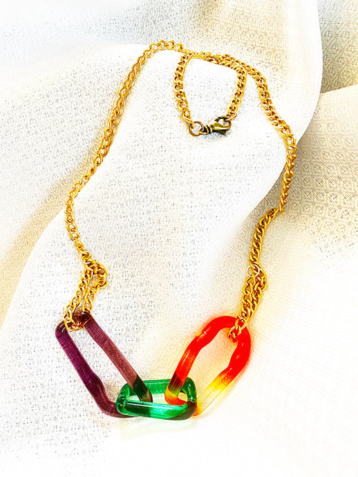 Colorful Glass Chain (4LT620)