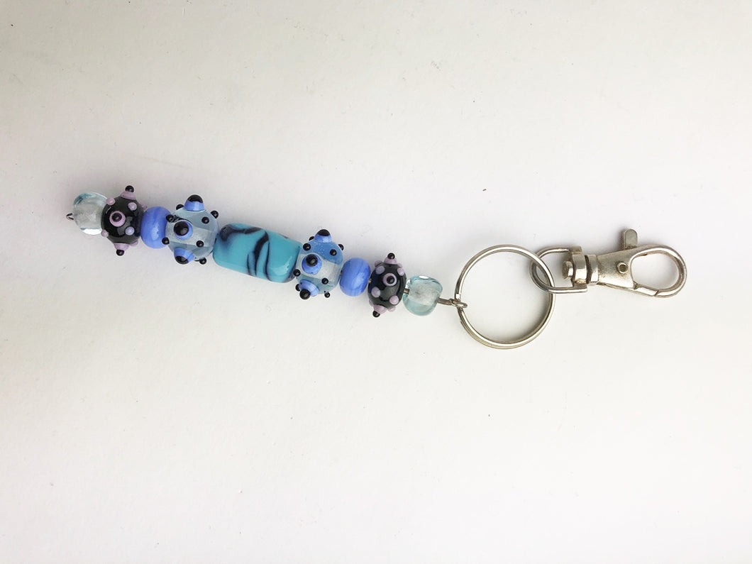 Blue Beaded Key Chain (6GR518)