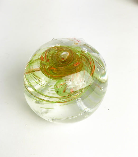 Green and Orange Paperweight (7GR619)