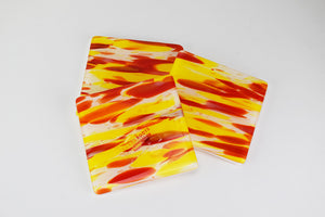 Spirit Yellow and Red Set of Three Coasters (9AR1119)
