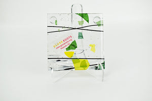 Black/Green/Clear Confetti Coaster (9AR319)