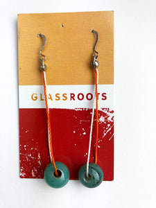 Green Drop Earrings (9GR118)