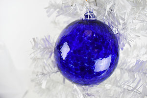 Cobalt Blown Glass Ornament (11ES1316)