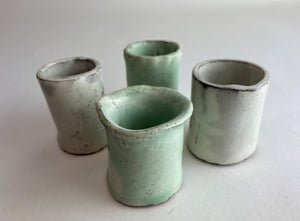 GlassRoots' Student Work Set of Ceramic Bud Vases By Karmin