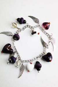 Charmed Purple Angel Bracelet (1AR119)