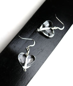 Transparent Heart Earrings