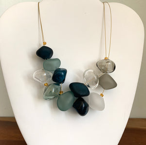 Deep Blue and Gray - GlassRoots Signature Necklace