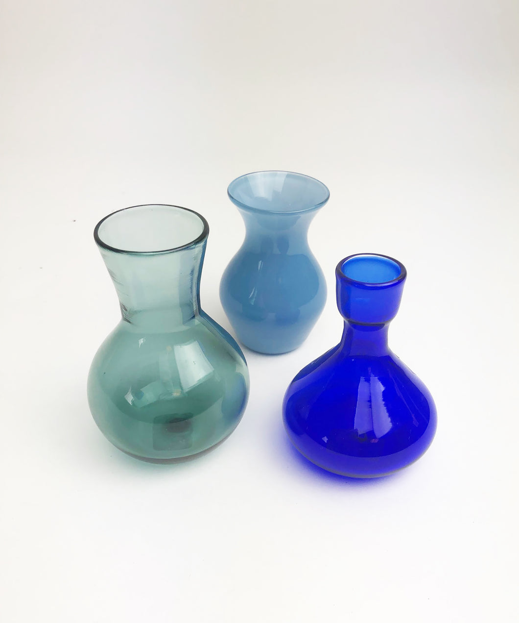 Silent Auction Blue Bud Vases