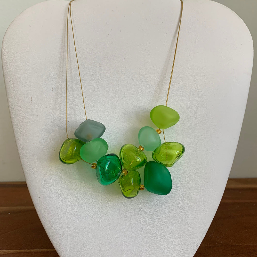 Green and Gray - GlassRoots Signature Necklace