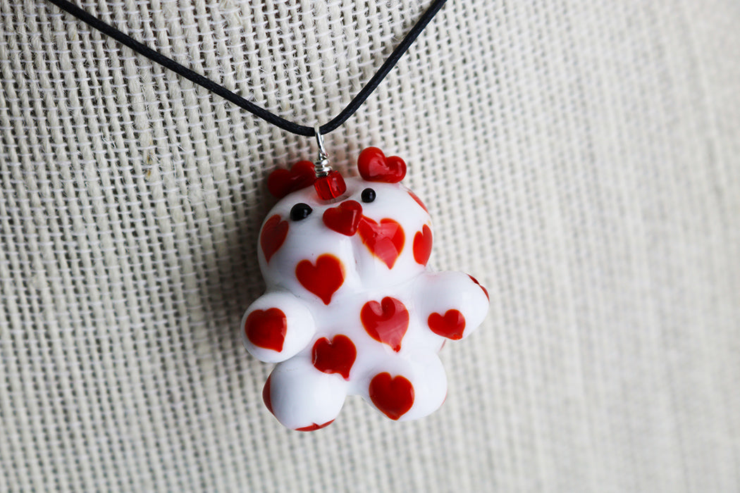 Heart Bear Necklace (1PAZ1719