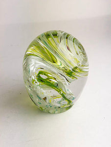 Green and White Paperweight (1GR1820)