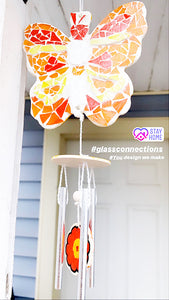You Design It We Make It Mosaic Butterfly Wind Chime