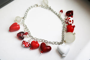 Red Hot Love Charmed Bracelet (1AR219)