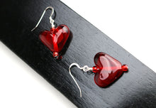 Load image into Gallery viewer, Transparent Heart Earrings
