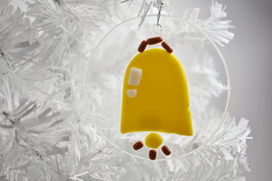 Bell fused glass ornament (12GR1119)