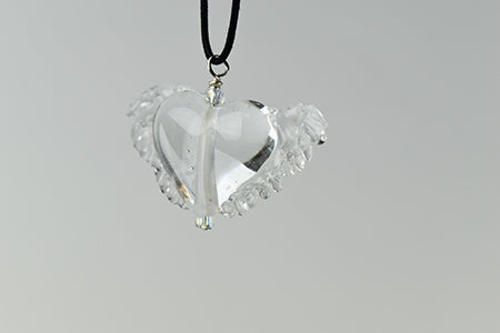 Clear Winged Heart Necklace (1PAZ1819)