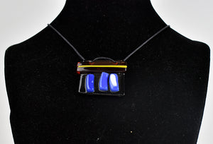 Fused glass necklace (10SC118)