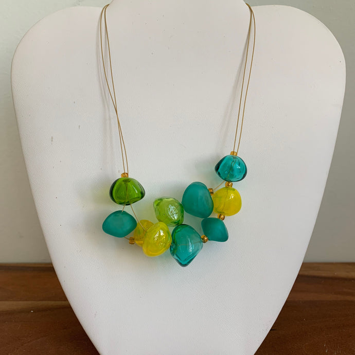 Green and Yellow - GlassRoots Signature Necklace