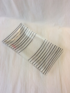 Clear Plate with Black Stripes (11GR1317)