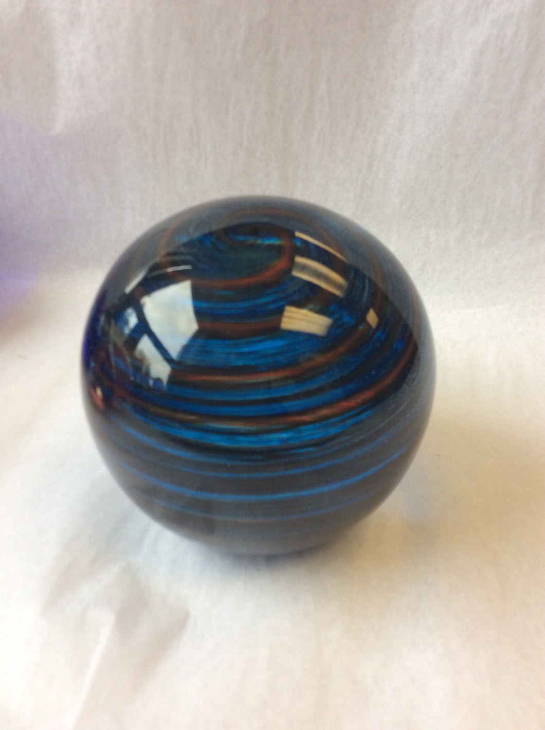 Blue & Orange Paperweight (8GR1020)