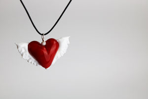 Red Winged Heart Necklace (1PAZ2119)