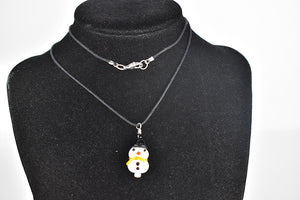 Snowperson glass bead necklace (1GR119)
