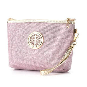 Makeup Bag | Glitter Cosmetic Case- Pink