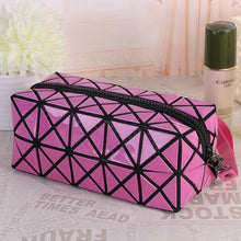 Load image into Gallery viewer, Travel Makeup Bag | Diamond Cosmetic Case- Pink