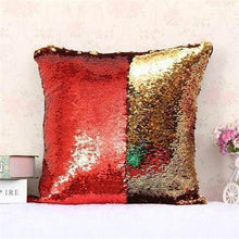 Load image into Gallery viewer, Mermaid Sequin Pillowcase- Gold/Red
