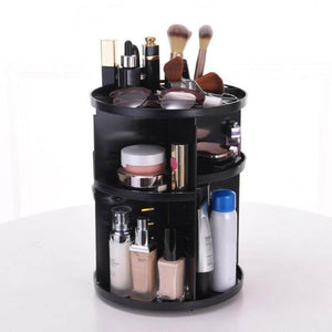 360 Rotating Makeup Organizer- Black