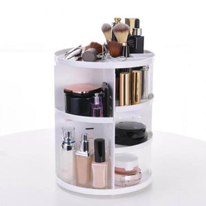 360 Rotating Makeup Organizer- White