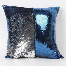 Load image into Gallery viewer, Mermaid Sequin Pillowcase- Silver/Blue