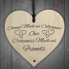 Load image into Gallery viewer, 1Pc Xmas Wooden LOVE Christmas Chip Hanging Gift Plaque Pendant Heart Shape Letter Friendship Wine Bottle Decor Pendant Tags