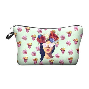 Travel Makeup Bag | Cosmetic Case | Hipster Chick- Default Title