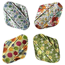 Load image into Gallery viewer, 10pcs  Flower Printed Washable Pad Cloth Menstrual Bamboo Reusable Sanitary Pad
